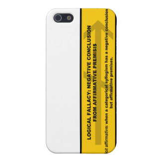 Logical Fallacy: Negative Conclusion From Affir... iPhone SE/5/5s Case