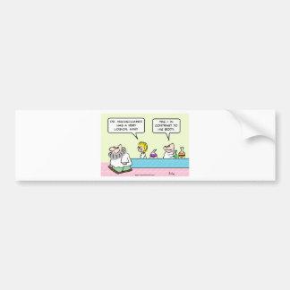 logicall mind contrast body lab science scientists bumper sticker