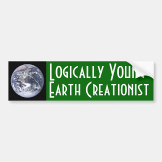 Lógicamente Creationist de la Joven-Tierra Pegatina Para Auto
