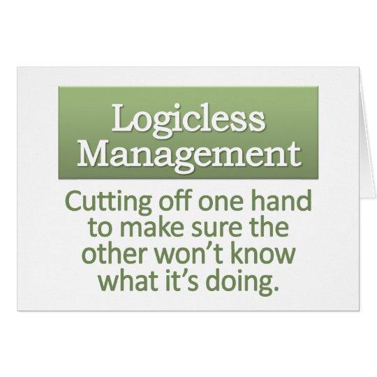 Logicless Management  Card