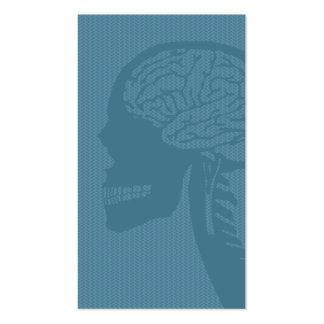 logicskull azul tarjetas de visita