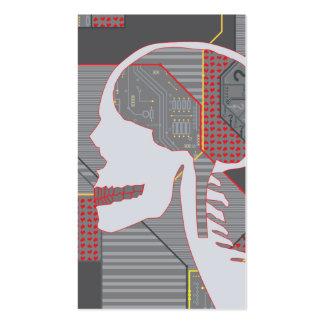 logicskull confuso del corazón tarjetas de visita