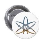 Logidea atheist atomic symbol 2 inch round button