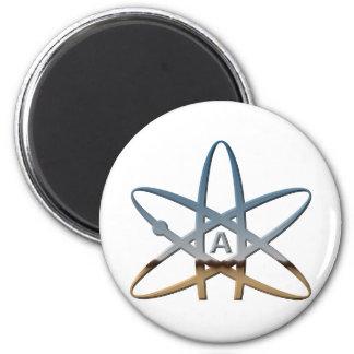 Logidea atheist atomic symbol 2 inch round magnet