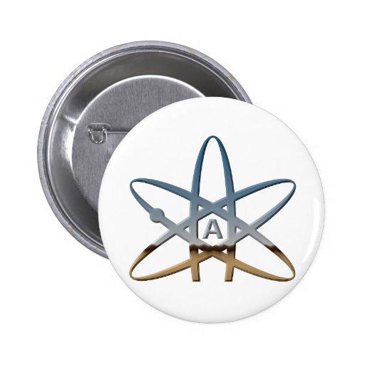 Logidea atheist atomic symbol button