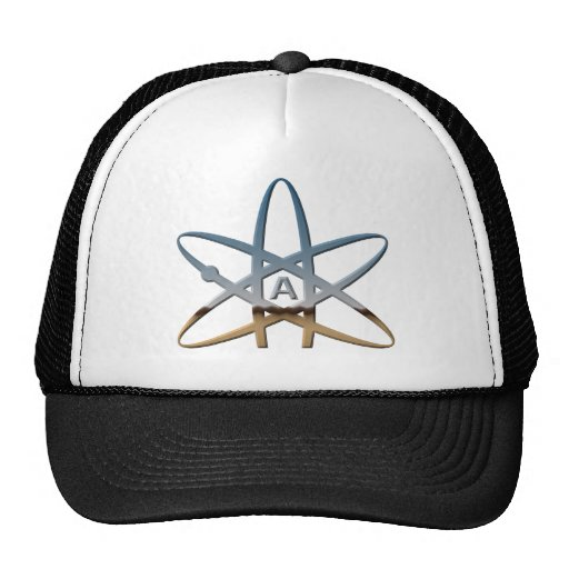 Logidea atheist atomic symbol trucker hat