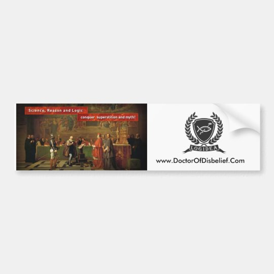 Logidea Bumper Sticker - Galileo/Crest/website url