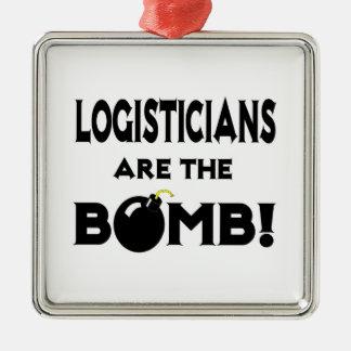 Logisticians Are The Bomb! Metal Ornament