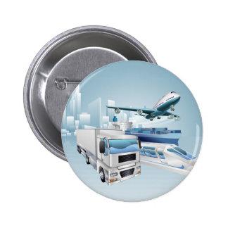 Logistics city business concept pin
