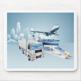 Logistics city business concept mouse pad