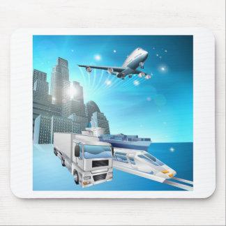 Logistics city concept mouse mats