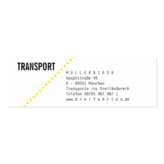 Logistics mini visiting cards