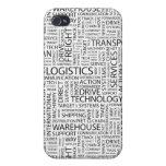 LOGISTICS pattern with words Case For iPhone 4