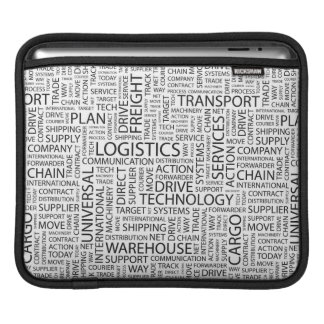 LOGISTICS pattern with words iPad Sleeve