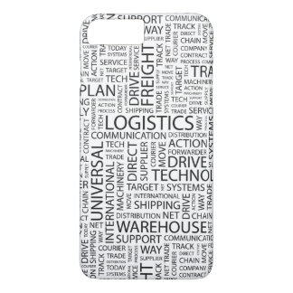 LOGISTICS pattern with words iPhone 8 Plus/7 Plus Case