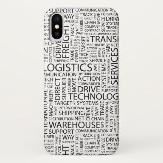LOGISTICS pattern with words iPhone X Case