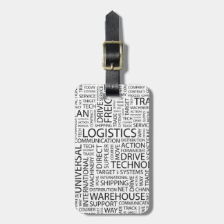 LOGISTICS pattern with words Tags For Luggage