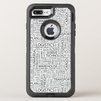 LOGISTICS pattern with words OtterBox Defender iPhone 8 Plus/7 Plus Case