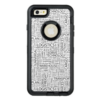 LOGISTICS pattern with words OtterBox Defender iPhone Case