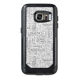 LOGISTICS pattern with words OtterBox Samsung Galaxy S7 Case