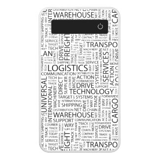 LOGISTICS pattern with words Power Bank