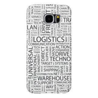 LOGISTICS pattern with words Samsung Galaxy S6 Case