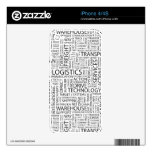 LOGISTICS pattern with words Skins For The iPhone 4S