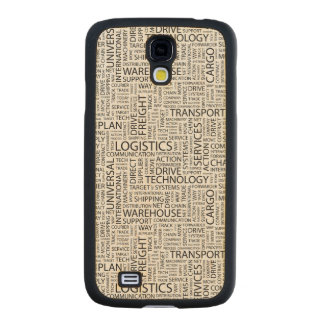 LOGISTICS pattern with words Carved® Maple Galaxy S4 Slim Case