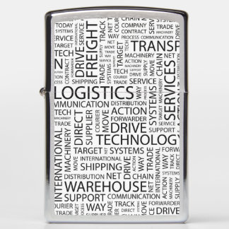 LOGISTICS pattern with words Zippo Lighter