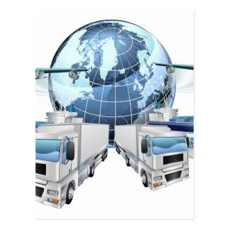 Logistics Transport Concept Postcard