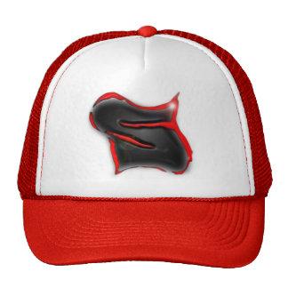 logo 2 lens flair on white trucker hat