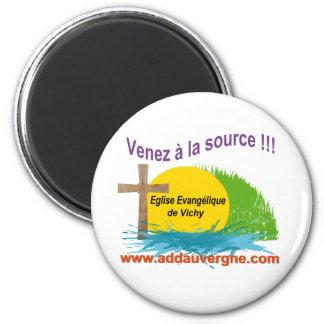 Logo ADD  Eglise Evangélique 2 Inch Round Magnet