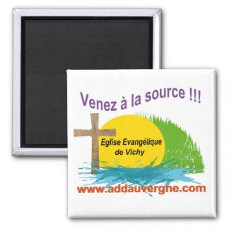 Logo ADD  Eglise Evangélique 2 Inch Square Magnet
