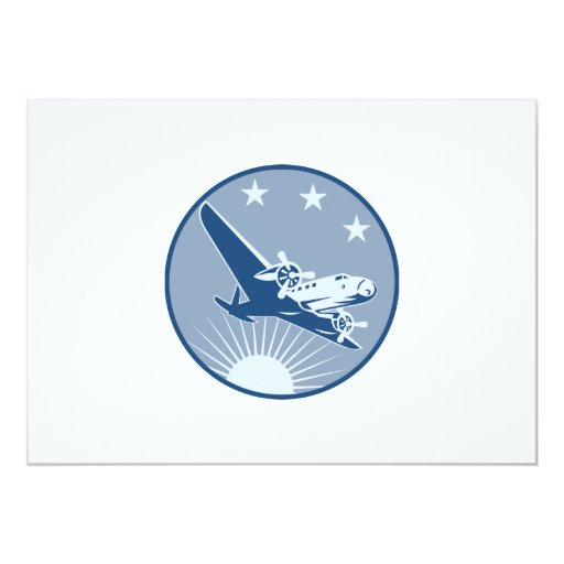 "logo_airplane_propeller_low_EPS10.png 5"" X 7"" Invitation Card"