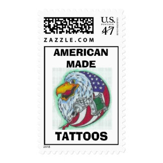 logo, AMERICAN MADE , TATTOOS Postage