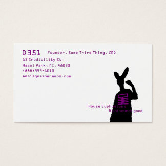 Logo and Rabbit Business Card
