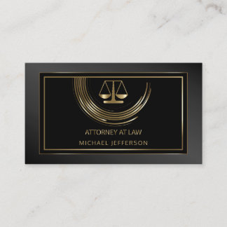 Logo Attorney at Law - Black and Gold Business Card