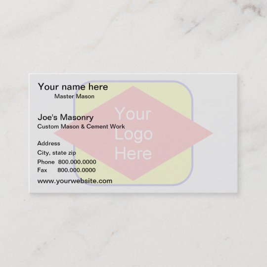 Logo background watermark effect business card zazzle logo background watermark effect business card colourmoves