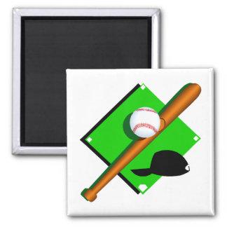 logo baseball 2 inch square magnet