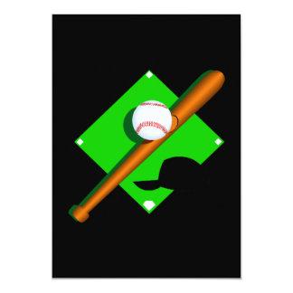 logo baseball 5x7 paper invitation card