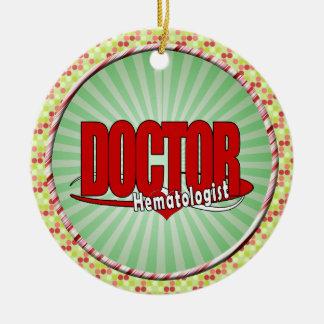 LOGO BIG RED DOCTOR Hematologist Ceramic Ornament