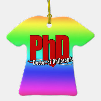 LOGO BIG RED PhD DOCTOR OF PHILOSOPHY Christmas Ornament