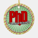 LOGO BIG RED PhD DOCTOR OF PHILOSOPHY Christmas Ornaments