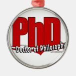 LOGO BIG RED PhD DOCTOR OF PHILOSOPHY Ornaments