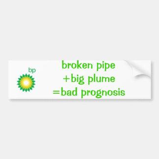 logo_bp, broken pipe+big plume=bad prognosis car bumper sticker