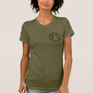 logo brown t shirt