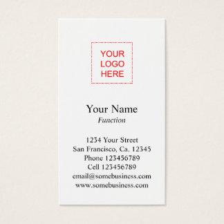 Logo business card template | Vertical layout