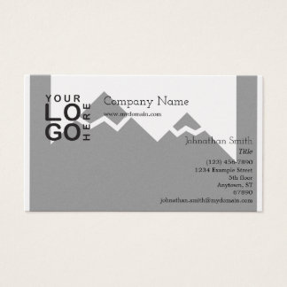 Logo Business Card with Background Image