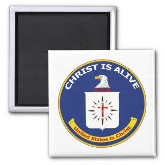 "Logo CIA ""Christ Is Alive"" Fridge Magnets"