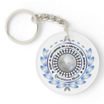 Logo Circular Keychain with customizable back